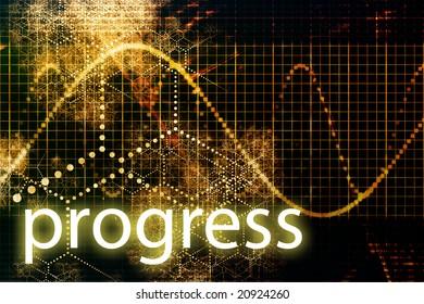 A Business Progress Abstract Futuristic Tech Background
