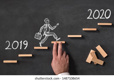 Business Progress And Challenge Concept For New Year 2020
