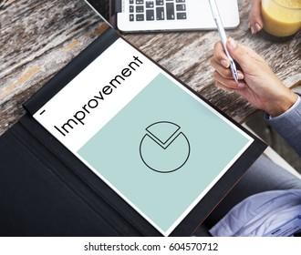Business progress report pie graph icon