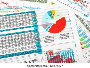 Business Report in Charts and Graphs with Sales Statistics