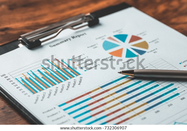 Business report plan put on the desk.