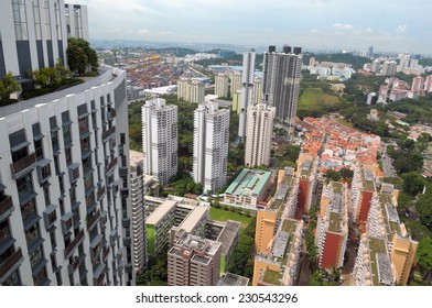 Business and residential area of Singapore