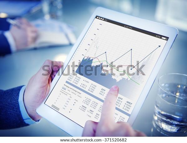 Business Sales Increase Revenue Shares Concept