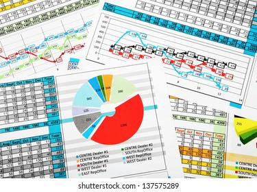 Business Sales Report with Diagrams, Charts and Statistics