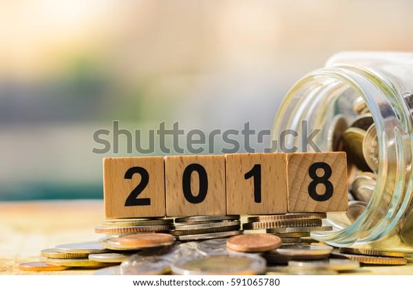 Business Saving Money Concept 2018 New Stock Photo (Edit Now