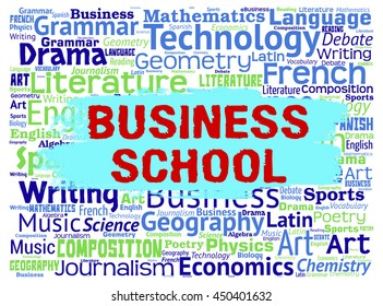 Business School Meaning Businesses Commerce And Trade
