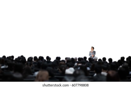 Business seminar isolated on the white.