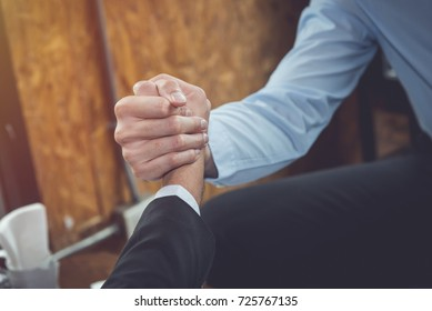 Business shaking hands during a meeting in the office for cooperation and partner concept.