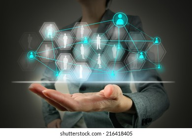 Business show social network structure