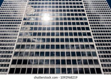 Business skyscraper's exterior