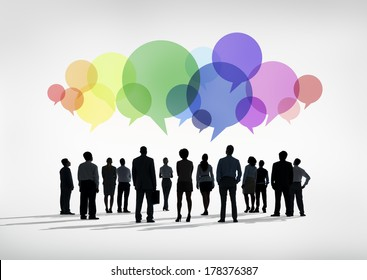 Business Social Networking with Speech Bubbles