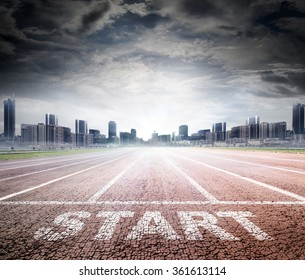 Business Start - Run Track To Success