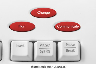 Business Strategy Concept with Keyboard