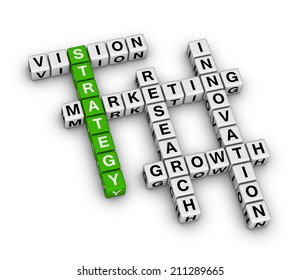 business strategy (green-white crossword series)