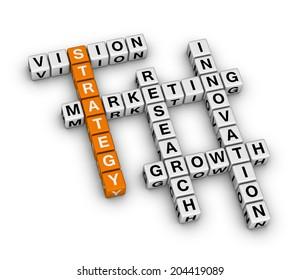 business strategy (orange-white crossword puzzles series)