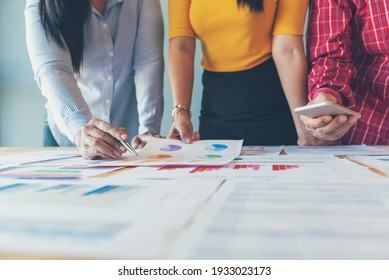 Business strategy team report chart, graph, infographic data analyze financial report plan. Hands team partner planning marketing finance statistics sale report with excel spreadsheet accountting - Shutterstock ID 1933023173