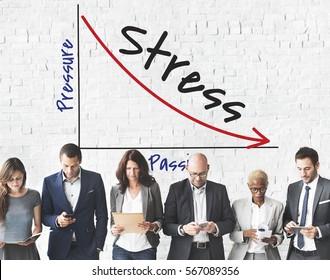 Business Stress Graph Concept