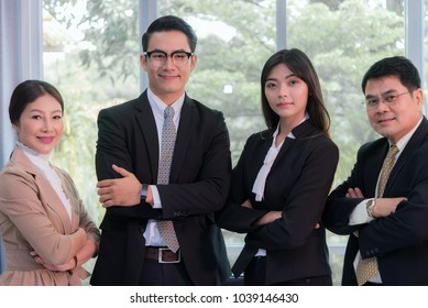 business success concept : business people meeting working teamwork ,selective focus