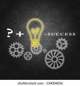 Business success concept, proper management and team work