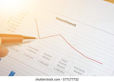 Business success and Financial market growth concept. Stock business graph chart on digital screen. Stock graph and Candle stick stock tracking for Forex market, Gold market and Crude oil market.