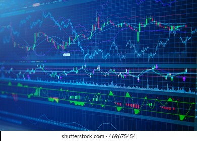 business success and growth concept stock finance  market display screen