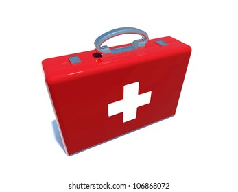 business suitcase with swiss flag