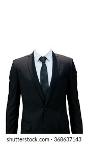 Business suite isolated on white background with clipping path.