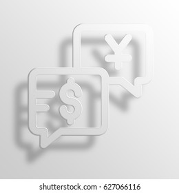 business talk 3D Paper Icon Symbol Business Concept