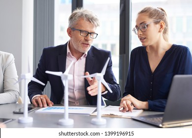 Business talks at conference table