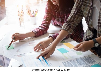 Business team adviser analysis financial data on paper denoting the progress in the work,consult concept.