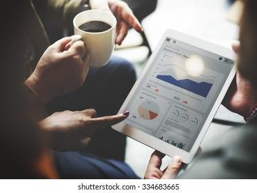 Business Team Brainstorming Data Target Financial