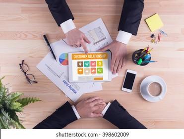 Business team concept - Customer Relationship