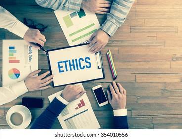 Business Team Concept: ETHICS