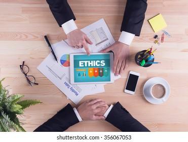 Business team concept - ETHICS