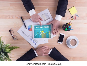 Business team concept - EXCELLENCE