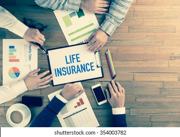 Business Team Concept: LIFE INSURANCE