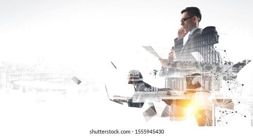 Concept d'équipe d'entreprise. Médias mixtes