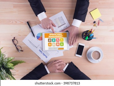 Business team concept - Operations Management