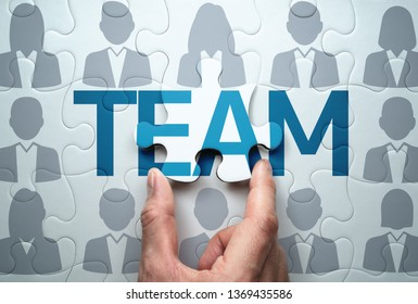 Business team concept. Selecting people and building team. 