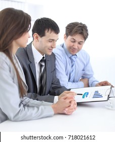 business team discussing a financial plan
