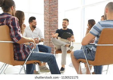 business team discussing ideas