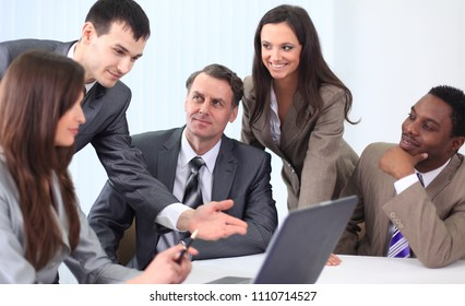 business team discussing new ideas