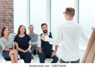 business team discussing a new business plan at a meeting in the office