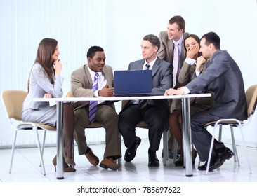 business team discussing a new business plan