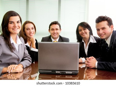business team during a meeting in an office