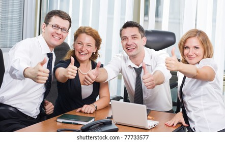 Business team express positivity on meeting board room in Hi Res
