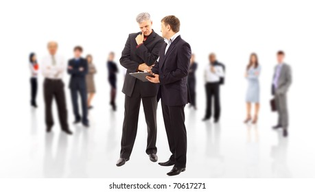 Business team or group at a meeting