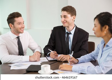 Business Team Holding Meeting