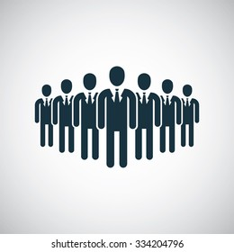 business team icon, on white background