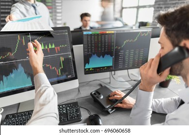 Business team investment trading do this deal on a stock exchange. People working in the office.